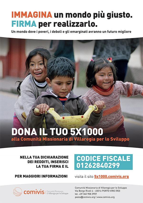 destina il tuo 5x1000 alla Comunità di Villaregia per lo Sviluppo